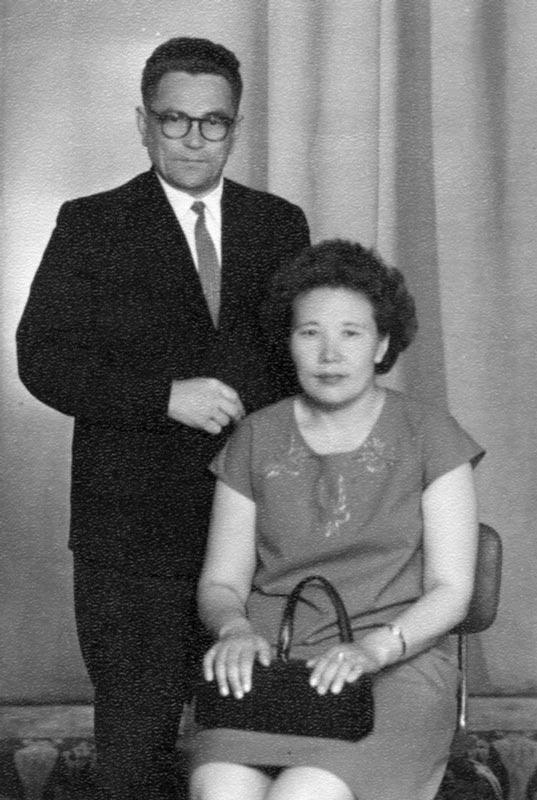 70-е годы, с супругой