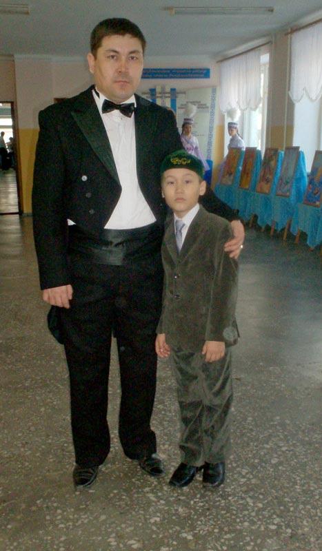 С сыном Ансаром