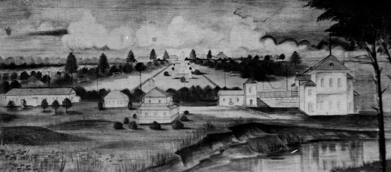 Рисунок из альбома «Уральский туберкулезный санаторий,1947 год»