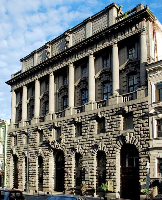 Главное здание  Русского Торгово-Промышленного банка в Санкт-Петербурге. 1910 г. Архитектор М. Перетяткович