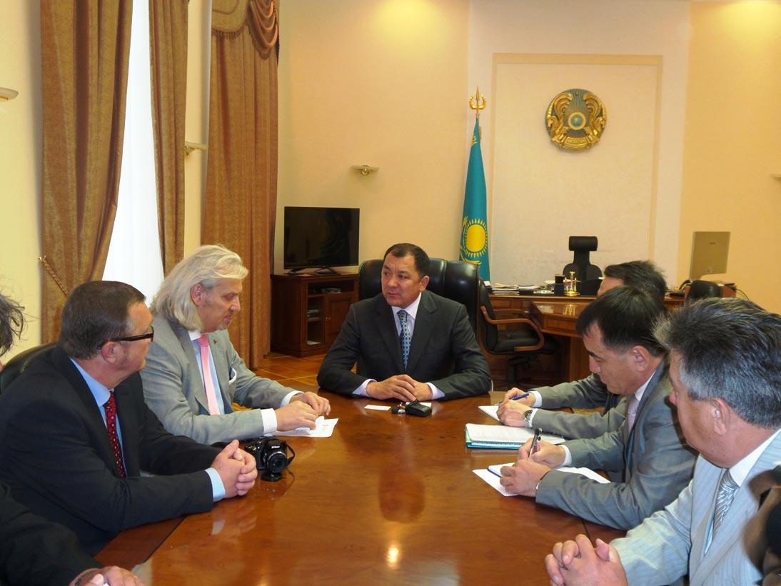 Чешская делегация в Уральске