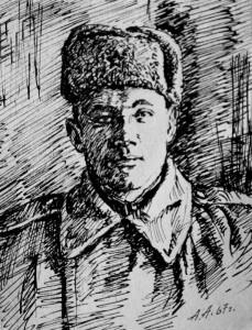 К.Х. Гайсин. Послевоенный снимок неизвестного художника