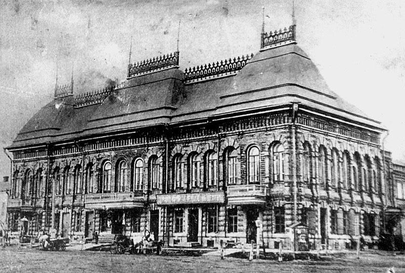 Доходный дом Ванюшиных на Казанской площади. Фото рубежа XIX-XX вв.