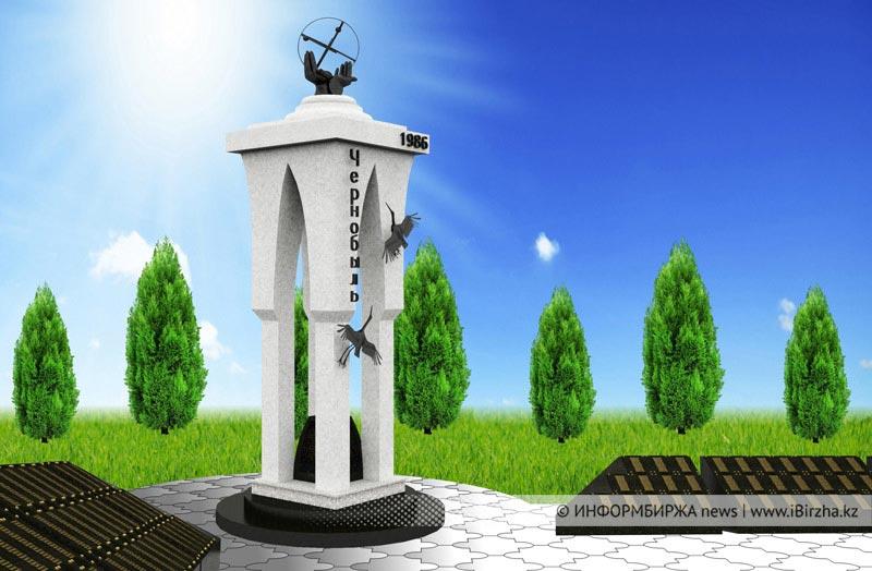 Макет памятника чернобыльцам