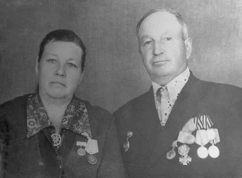 С супругой Ириной Георгиевной, середина восьмидесятых годов