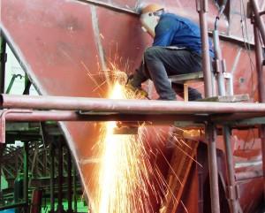 Строительство корабля на заводе Зенит