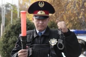 Казахстанский полицейский