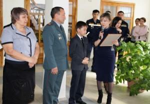 Мейрамбека Аубакирова поздравили на школьной линейке