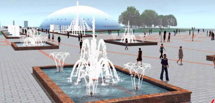 Визуализация новой площади Уральска