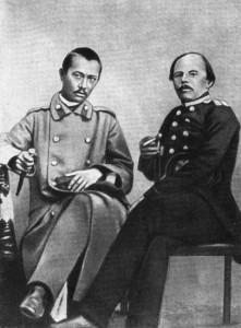 Ч. Валиханов и Ф. Достоевский. Семипалатинск, май 1859 г. (вскоре после возвращения из Кашгара)