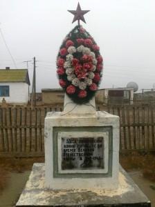 Памятник на станции Шунгай
