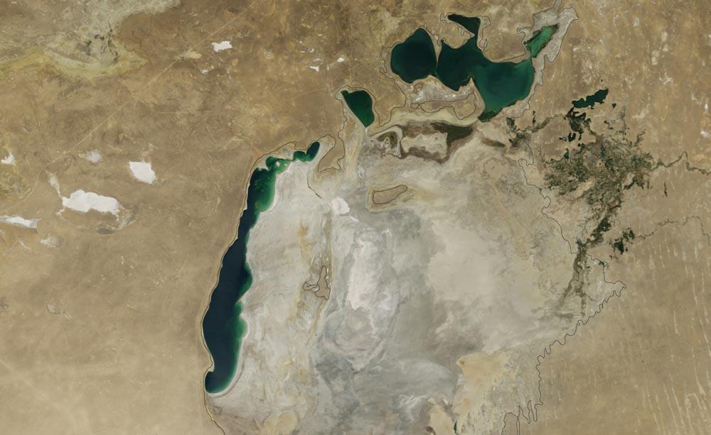 Снимок Аральского моря из космоса