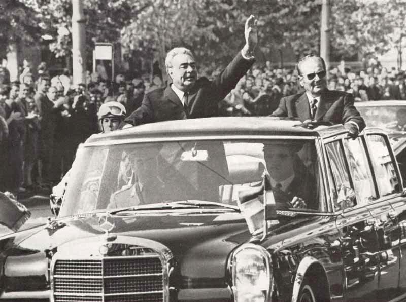 Леонид Брежнев и Иосип Броз Тито. 1971 год