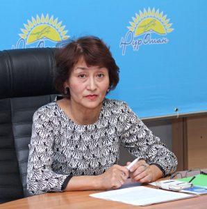 Жаннат Танабаева, председатель НПО «Мәңгі Қазақ елі»