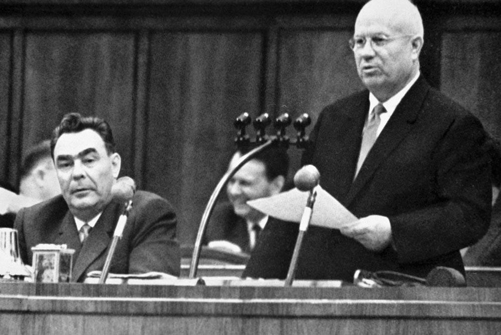 Н.С. Хрущёв выступает на Пленуме