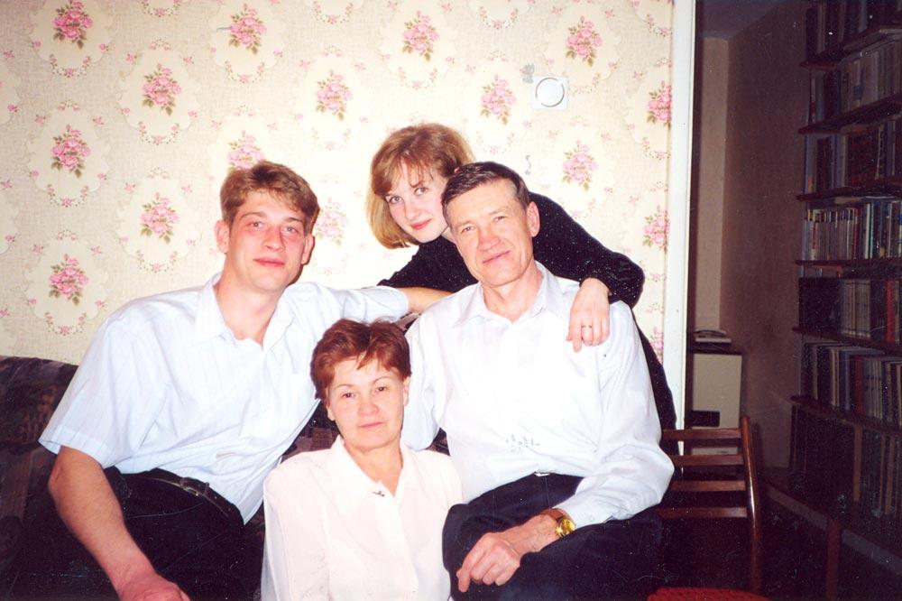 С Галиной Михайловной и детьми Ильей и Анной
