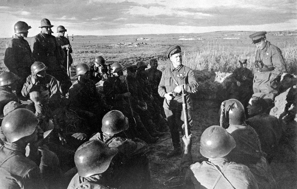 Г.К. Жуков во время боев на Халкин-Голе