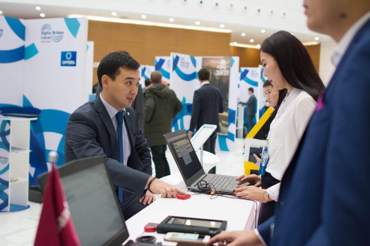 """Председатель правления госкорпорации """"Правительство для граждан"""" Аблайхан Оспанов презентовал проект по предоставлению услуг на основе биометрических данных"""