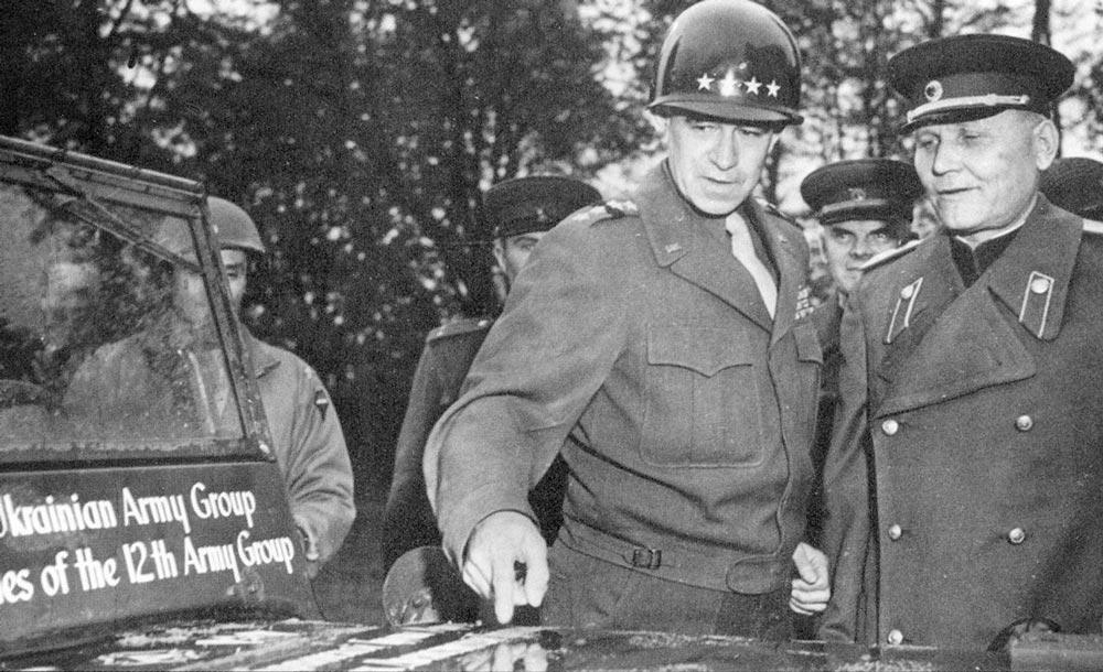 Встреча маршала И. С. Конева с американским генералом О. Брэдли