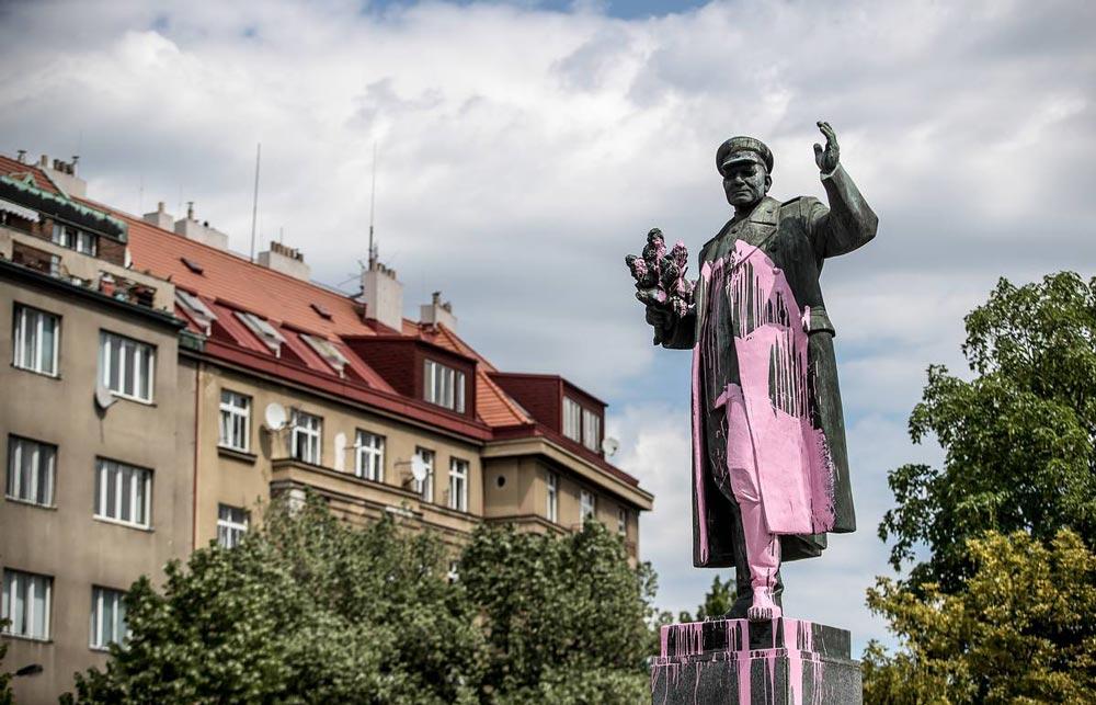 Памятник маршалу И.С. Коневу в Праге