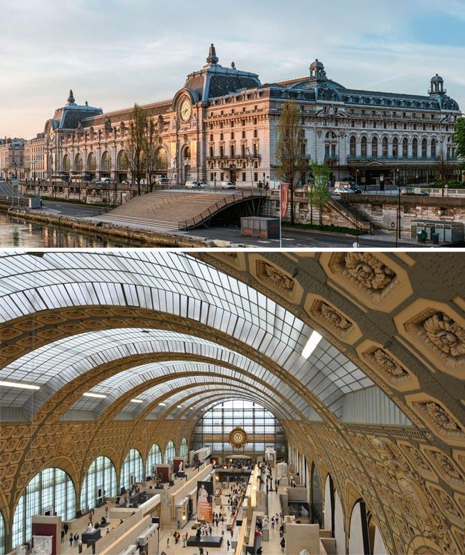 Париж. Бывшее здание вокзала Орсэ. Сохранено, ныне музей современного искусства Орсэ