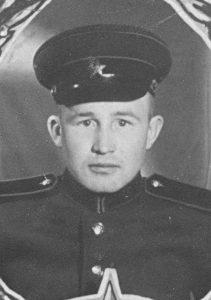 Евгений Колязин в годы армейской службы, 1955-1958 гг.