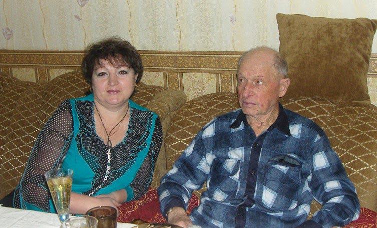 Б.И. Лиманский с дочерью Валентиной