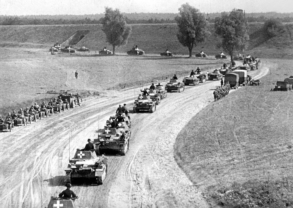 Немецкие войска переходят границу Польши, 1 сентября 1939 года