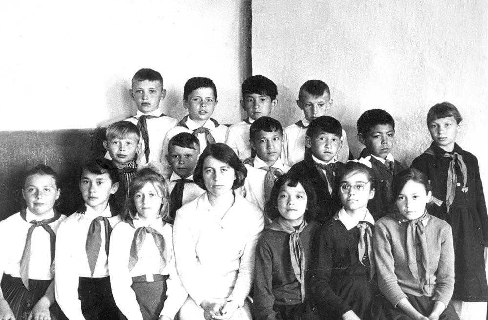 Яикская школа, 4 класс (1970 учебный год)