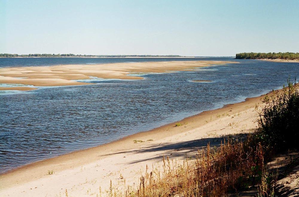 Мелководья в дельте Волги
