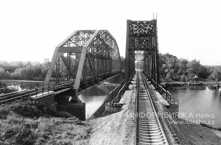 Чугунный мост в Уральске