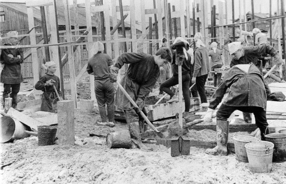Ударная комсомольская стройка в 50-е годы
