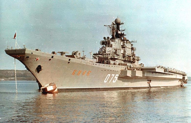 Авианесущий крейсер «Киев» на учениях в Атлантике