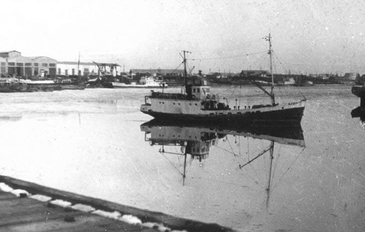 Порт в Аральске в 1960-е годы