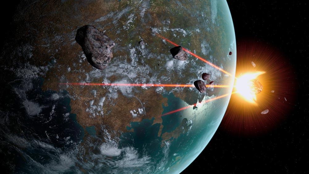 Космический лазер разрушает астероид