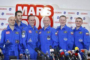 Участники российского эксперимента «Марс-500»