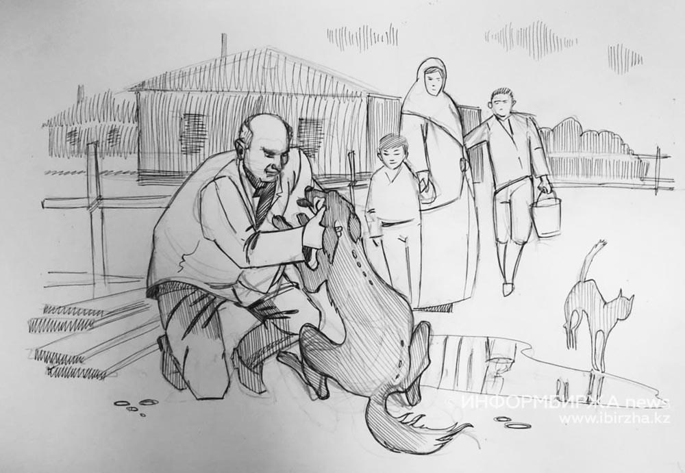 Джек. Рисунок Нурбека Жардемова