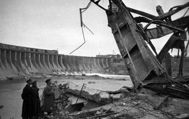 Восстановление Днепрогэса. 1946 г.